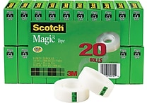 Scotch® 810 Magic™ Tape Refill Rolls Bonus Pack, 3/4' x 27.7 yds, 1' Core, 20/Pack