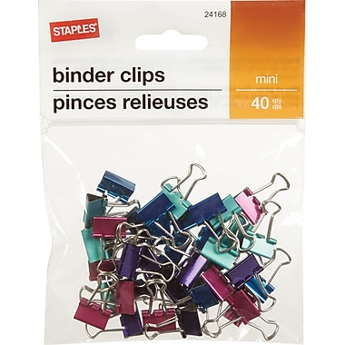 Staples® Binder Clip Mini 40 PK - Metallic