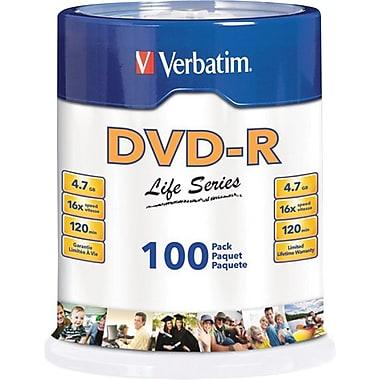 100 dvd r verbatim: