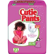 Cuties™ Training Pants, Girl 3T-4T, 92/Case