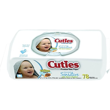 Cuties Sensitive Baby Wipes, 864/Case