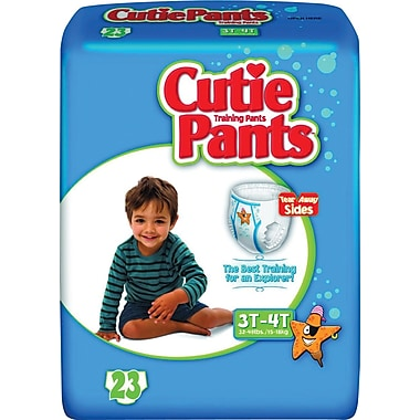 Cuties™ Training Pants, Boy 3T-4T, 92/Case