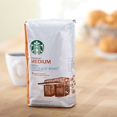 Starbucks Pike Place Ground Coffee, Decaffinated, 1 lb. Bag