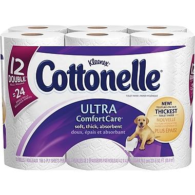 Kleenex - Papier hygiénique Cottonelle Ultra-doux, paq./12 roul.