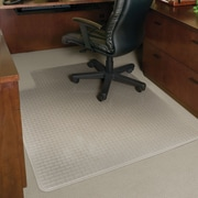 "ES Robbins Crystal Pane™ Ergonomic Chairmat, Medium Pile Carpets, Standard Lip, Rectangular, 45"" x 53"""