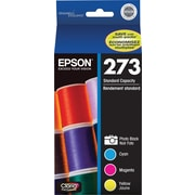 Epson 273 Photo Black & Color C/M/Y Ink Cartridges (T273520-S), Combo 4/Pack