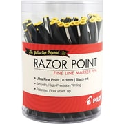 Pilot® The Original Razor Point® Fine Line Marker Pen, Ultra Fine Point, Black, 36/Pack