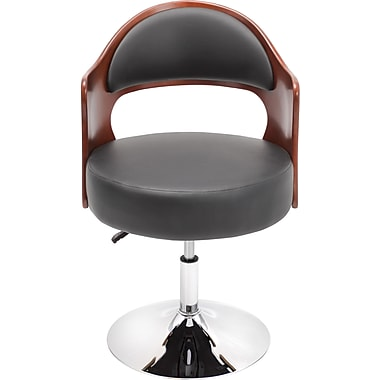 LumiSource Leatherette Cello Chair, Cherry/Black