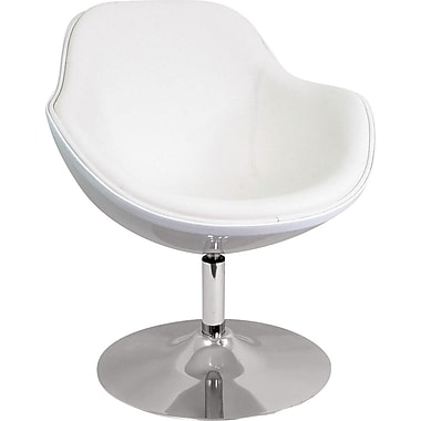 LumiSource Leatherette Saddlebrook Lounger, White