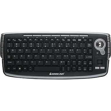 IOGEAR 2.4GHz Wireless Compact Keyboard with Optical Trackball and Scroll Wheel, English