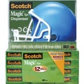 Scotch® Magic™ Tape 810 with Helmet Dispenser, 3/4in. x 1000in., 12/Pack