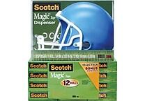 Scotch® Magic™ Tape 810 with Helmet Dispenser, 3/4' x 1000', 12/Pack