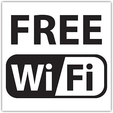 Siglet - Panneau pour fenêtre : Free Wi-Fi (gratuit), 6 po x 6 po