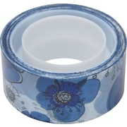 "Scotch® Expressions Magic™ Tape,  Blue Floral Pattern, 3/4"" x 300"""