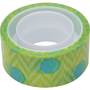 Scotch® Expressions Magic™ Tape, Blue Green Pattern, 3/4in. x 300in.
