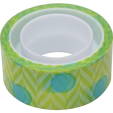 Scotch® Expressions Magic™ Tape, Blue Green Pattern, 3/4in. x 300in.