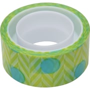 Scotch® Expressions Magic™ Tape, Blue Green Pattern, 3/4 x 300