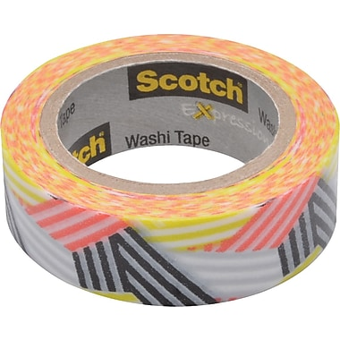 Scotch® Expressions Washi Tape, Wrapped, 3/5in. x 393in.