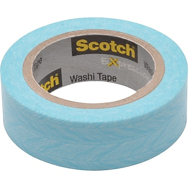Scotch® Expressions Washi Tape, Feather, 3/5