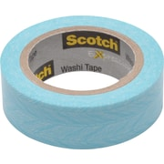 "Scotch® Expressions Washi Tape, Feather, 3/5"" x 393"""