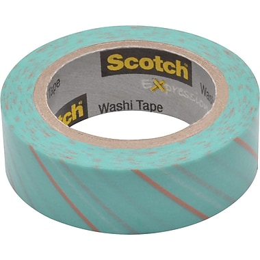 Scotch® Expressions Washi Tape, Tie, 3/5