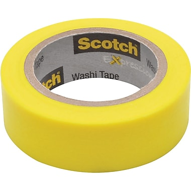 Scotch® Expressions Washi Tape, Yellow, 3/5in. x 393in.