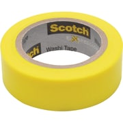 "Scotch® Expressions Washi Tape, Yellow, 3/5"" x 393"""