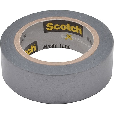 Scotch® Expressions Washi Tape, Silver Solid, 3/5in. x 393in.