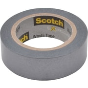 "Scotch® Expressions Washi Tape, Silver Solid, 3/5"" x 393"""