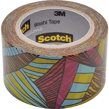 Scotch® Expressions Washi Tape, Kaleidoscope Pattern, 1 3/16in. x 393in.