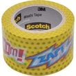 Scotch® Expressions Washi Tape, POW! Pattern, 1 3/16in. x 393in.