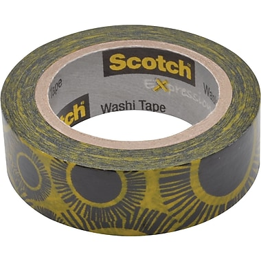 Scotch® Expressions Washi Tape, Sunflowers, 3/5
