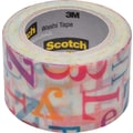 Scotch® Expressions Washi Tape, Alphabet Soup Pattern, 1 3/16in. x 393in.
