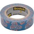 Scotch® Expressions Washi Tape, Vintage Rose, 3/5in. x 393in.