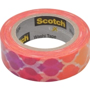 "Scotch® Expressions Washi Tape, Quatrefoil Sunset, 3/5"" x 393"""