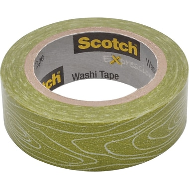 Scotch® Expressions Washi Tape, Woodgrain, 3/5in. x 393in.