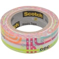 Scotch® Expressions Washi Tape, Subway Map Pattern, 3/5in. x 393in.