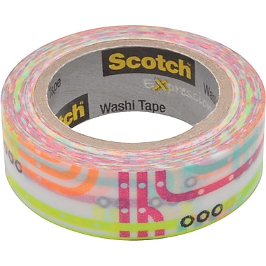 Scotch® Expressions Washi Tape, Subway Map Pattern, 3/5