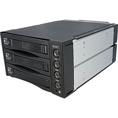 StarTech.com Hot Swap SATA/SAS Backplane RAID Bays, 3 Hard Drive Mobile Rack