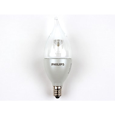 3.5 Watt Philips Bent BA11 Dimmable LED Decorative Bulb (8-Pack), Warm White