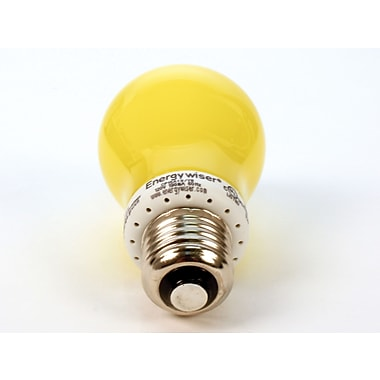 15 Watt Bulbrite® A19 Yellow Bug E26 Non-Dimmable Compact Fluorescent Bulb (12-Pack)