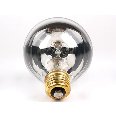 100 Watt Bulbrite® G25 Mirror E26 Clear Warm White Half Chrome Bulbs