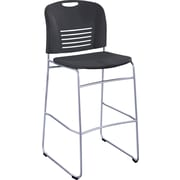 Safco Vy Sled Base Bistro Chair, Black