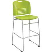 Safco Vy Sled Base Bistro Chair, Grass