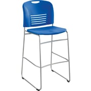 Safco Vy Sled Base Bistro Chair, Lapis