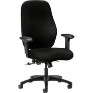HON® 7800 Series Seating Tectonic 100% Polyester General Office, Black, 45in.H x 30 1/2in.W x 39in.D