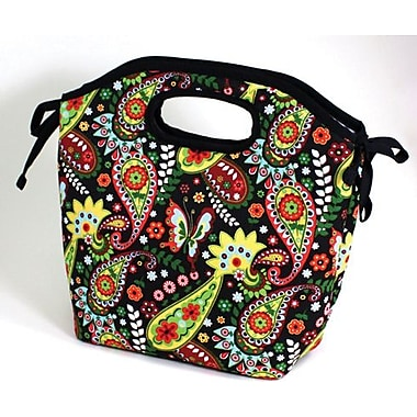 Fit & Fresh Newport Insulated Designer Lunch Bag with Ice Pack -Bright Paisley