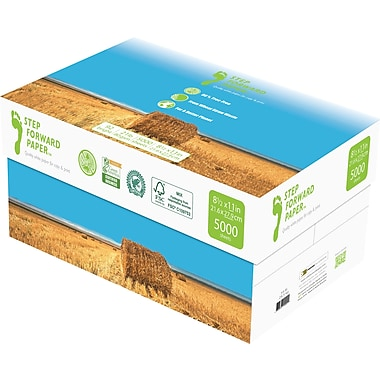 Step Forward 80% Wheat Straw FSC-Certified Copy Paper, 21 lb., 8 1/2in.x11in., 5,000/Case