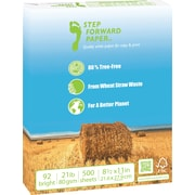 "Step Forward 80% Wheat Straw FSC-Certified Copy Paper, 21 lb., 8 1/2""x11"", 500/Ream"