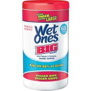 Wet Ones® Big Ones Antibacterial Hand Wipes, 65 Wipes/Tub